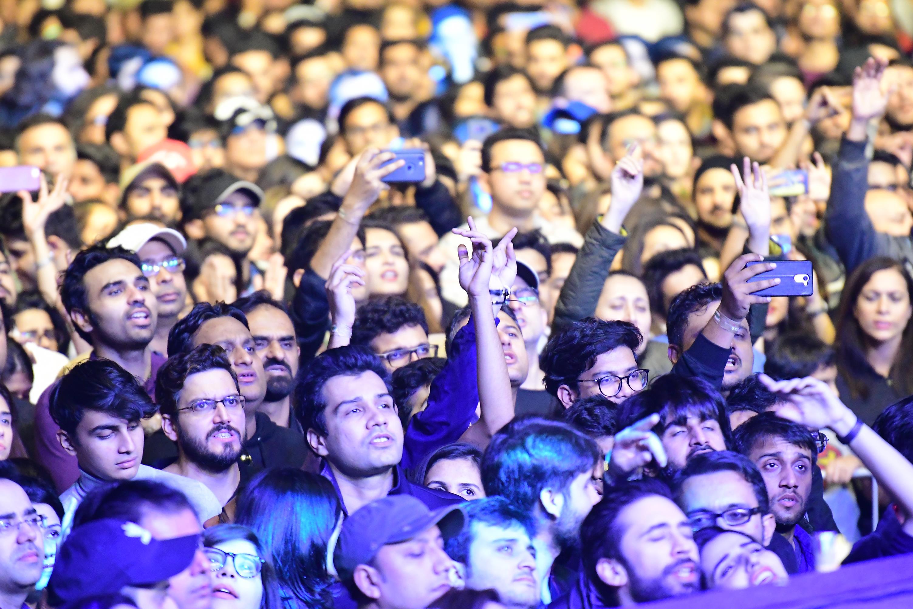 SooperJunoon - crowd at the concert