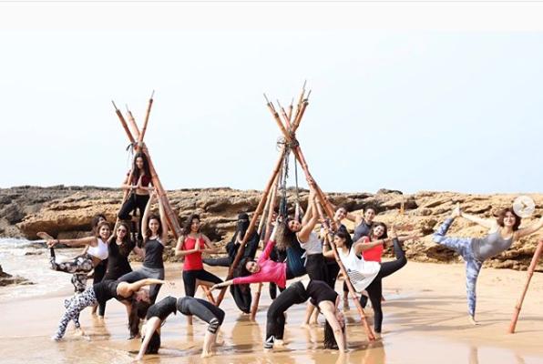 Yoga on the beaches ofKarachi